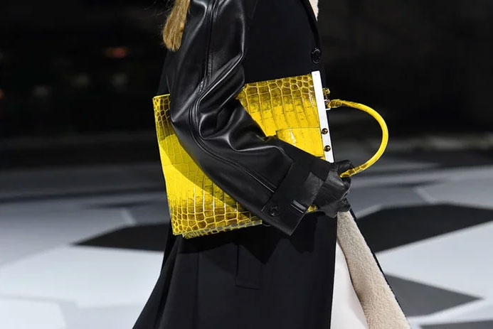 Yellow exotic at Louis Vuitton