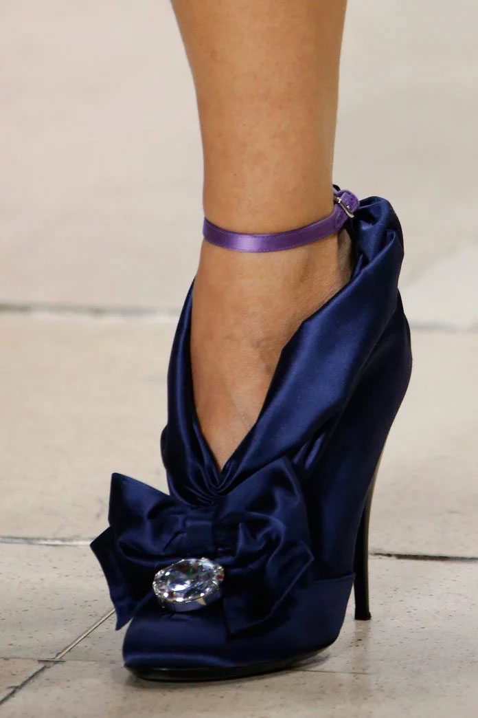 Ankle strap pump at Miu Miu