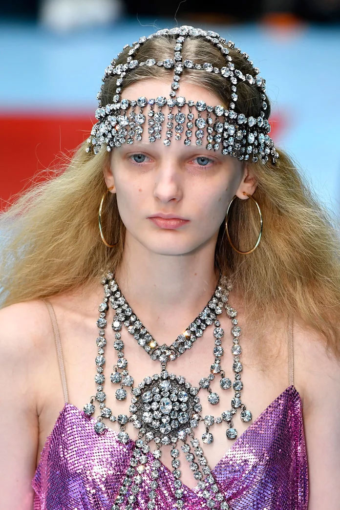 Crystal Headpiece at Gucci