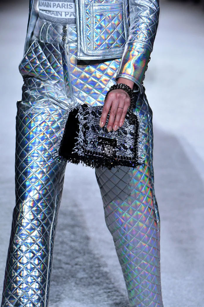 Holographic Bag at Balmain