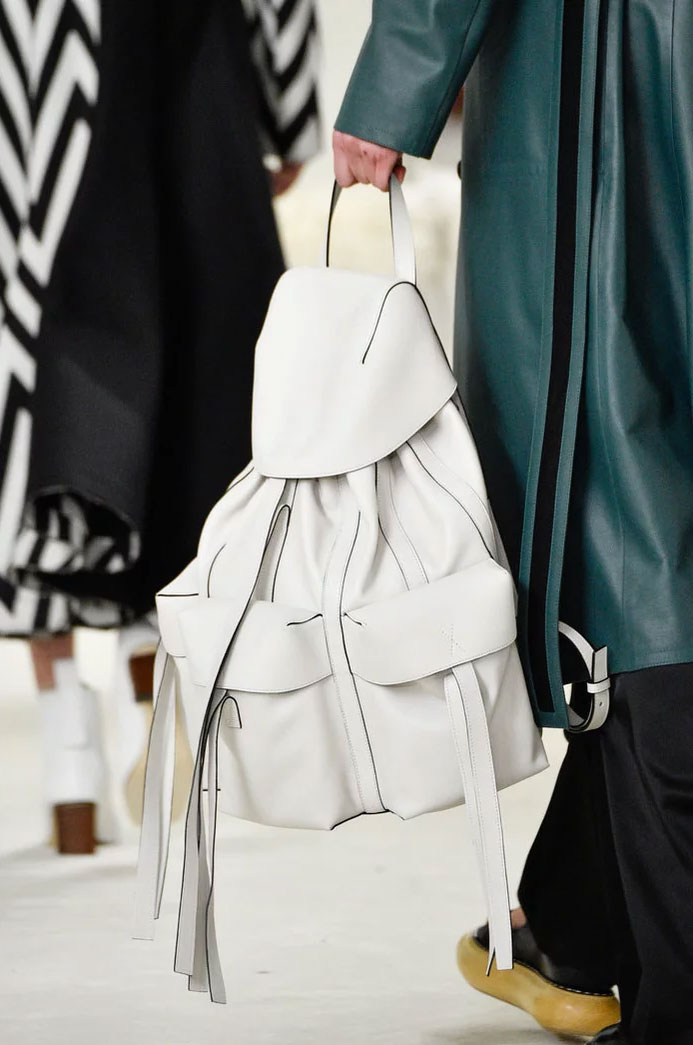 White backpack at Loewe