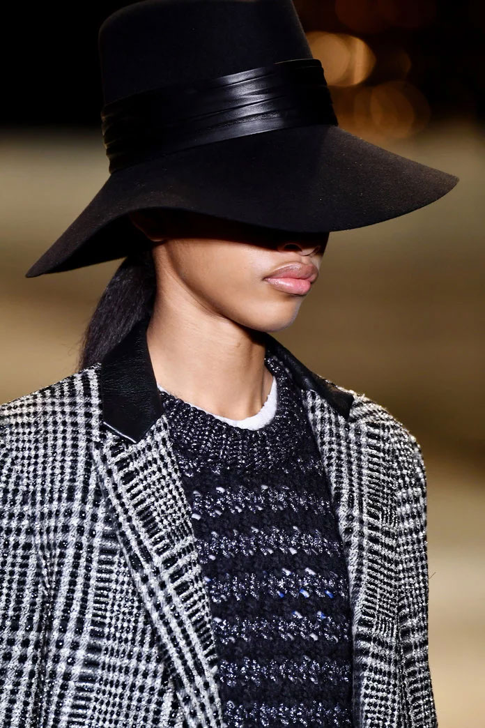 Wide Brimmed Hat at Saint Laurent
