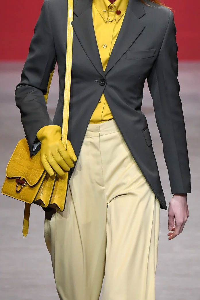 Yellow Statement Bag at Ferragamo
