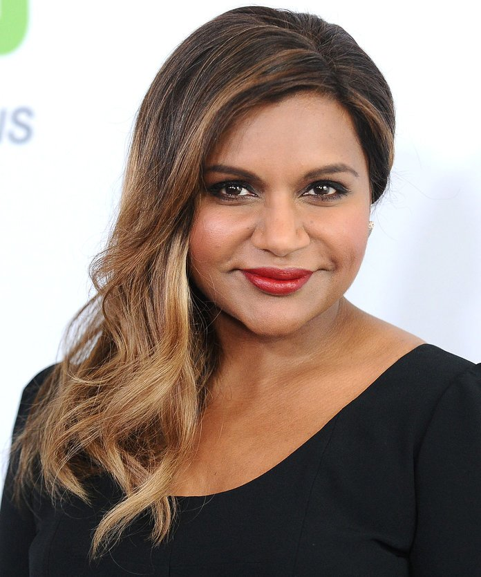 Mindy Kaling Mindy Kaling used the color to create an ombréd look.