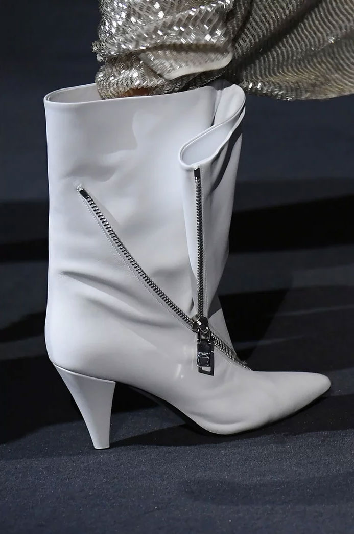 White boot at Givenchy